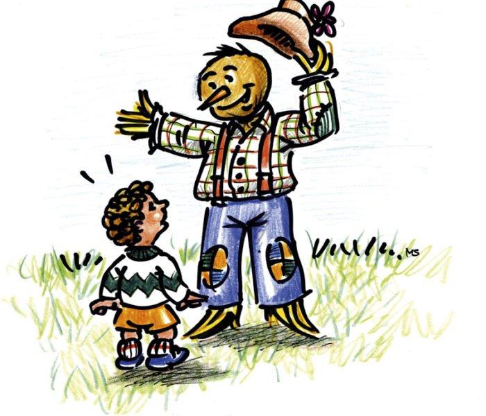 Pirì parla con un bambino